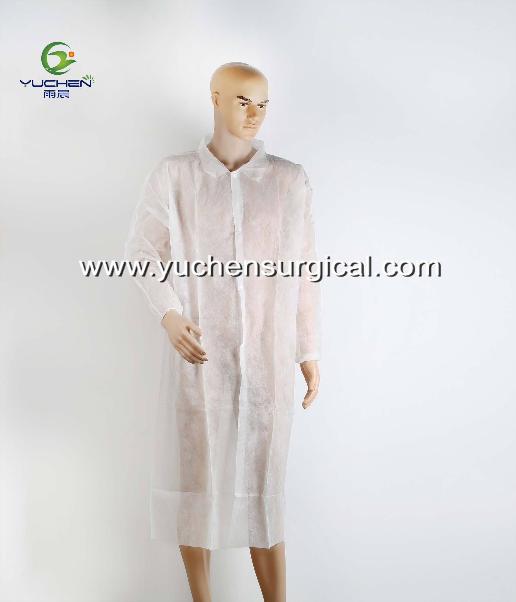 Medical PP Nonwoven disposable lab coat