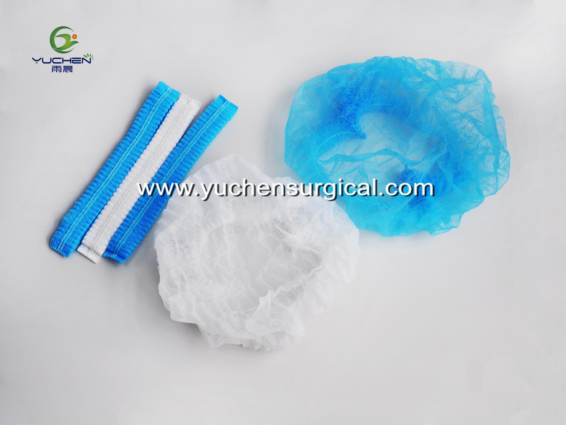 Disposable non-woven PP hairnet cap